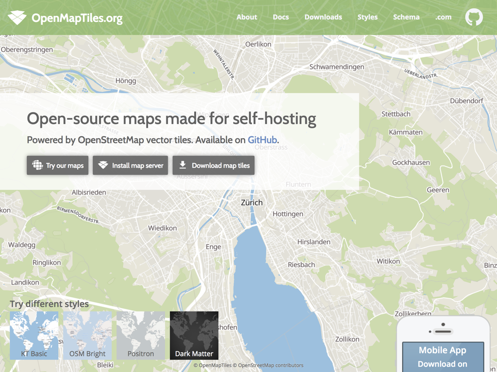 OpenMapTiles org - Offline Maps for Mobile — Making Maps That Are